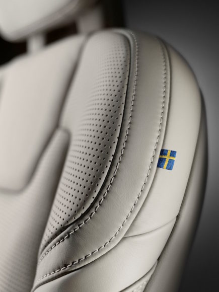 Close-up Volvo S90/V90 seat Made by Sweden