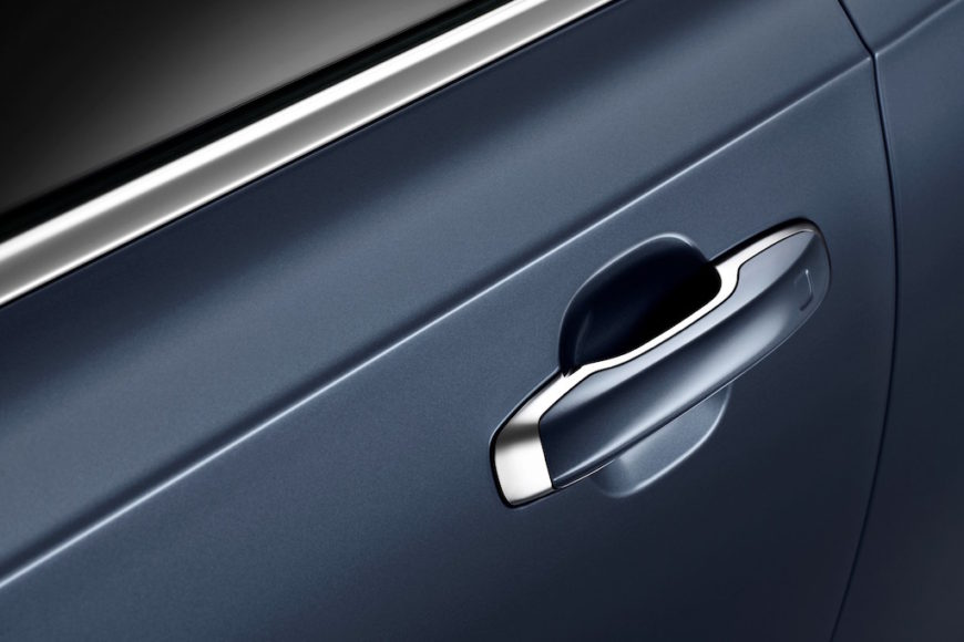 Detail Door Handle Volvo S90 Mussel Blue