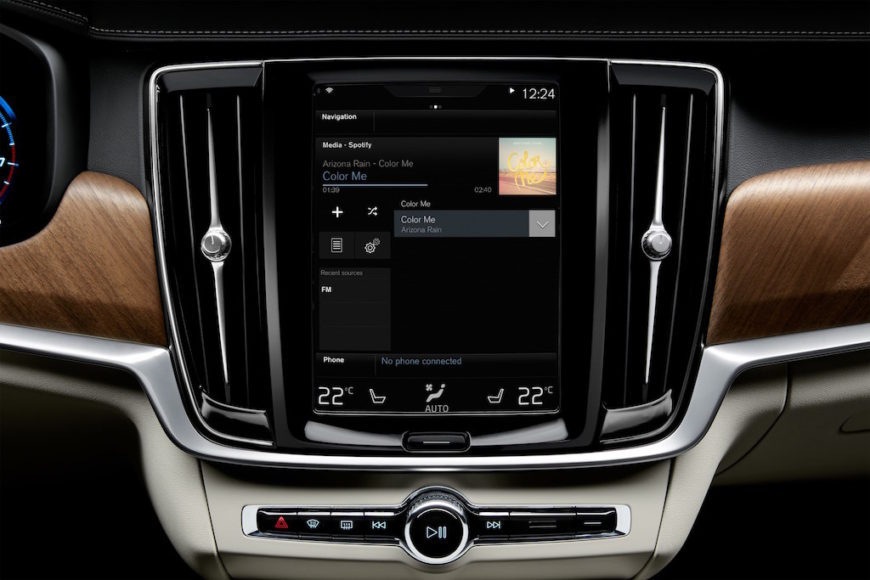 Volvo integrated Spotify app